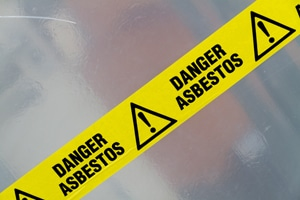 asbestos caution tape