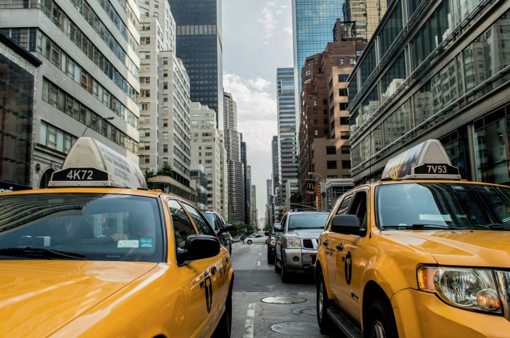 Taxi Cab Drivers in the City