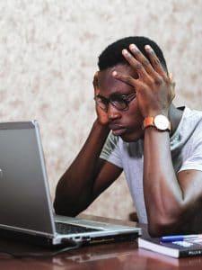 Photo of man stressed