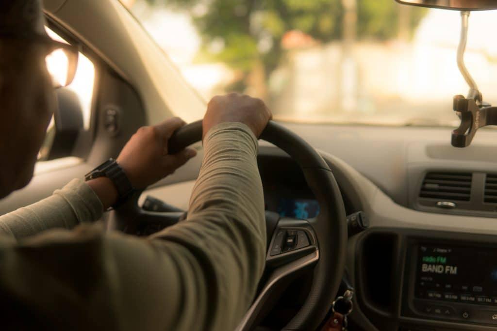 Photo of rideshare driver